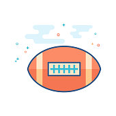Flat Color Icon - Football