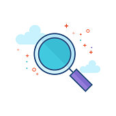Flat Color Icon - Magnifier