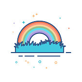 Flat Color Icon - Rainbow