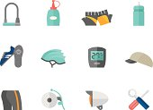 Flat Color Icons - Bicycle Accessories