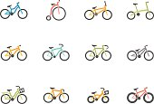 Flat Color Icons - Bicycles