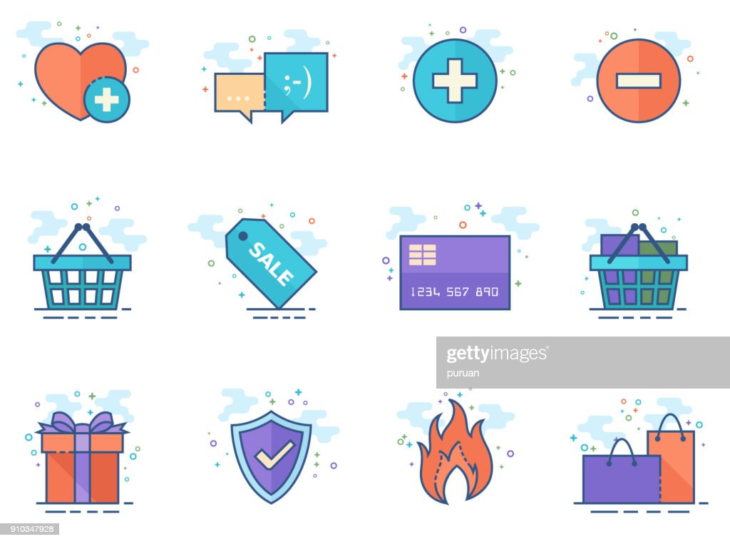 Flat color icons - Ecommerce