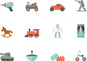 Flat Color Icons - Toys