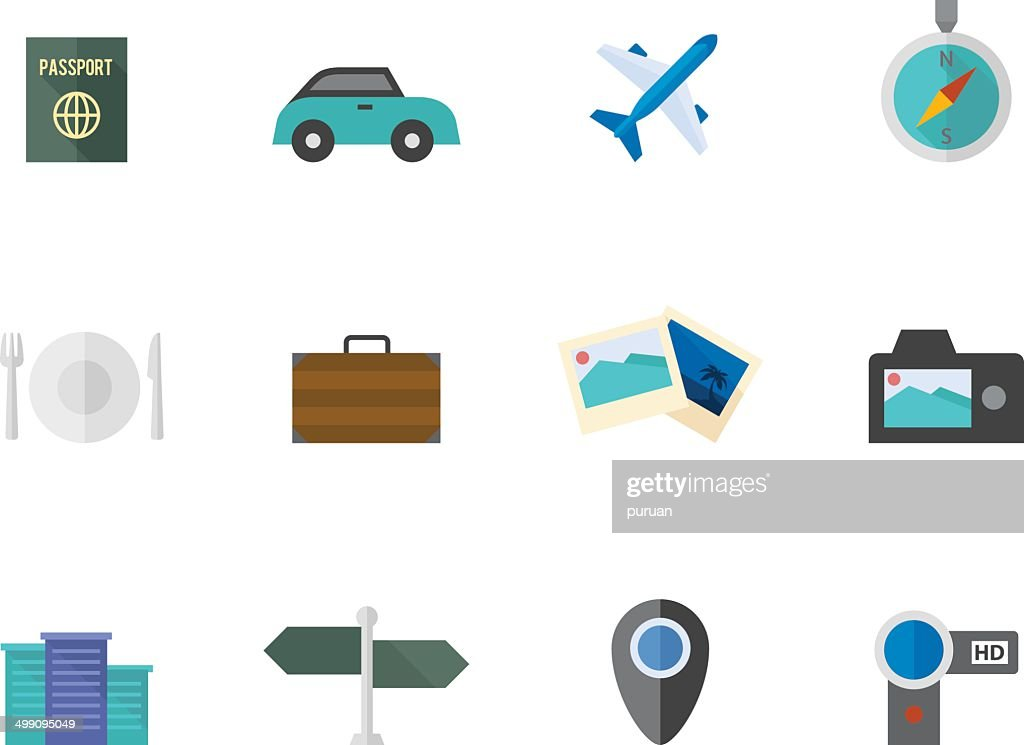 Flat Color Icons - Travel