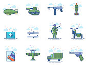 Flat Color Icons - World War