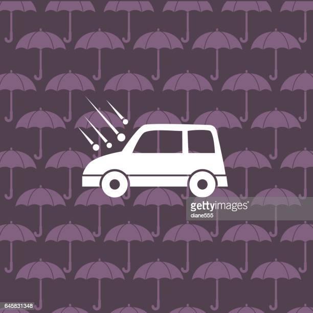 flat color website car auto insurance icon - hailstone stock illustrations, clip art, cartoons, & icons