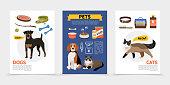 Flat Colorful Pet Shop Brochures
