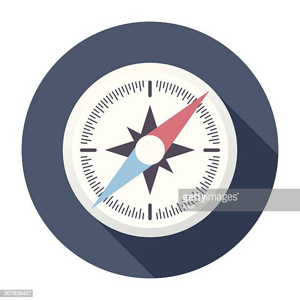 Flat Compass Icon