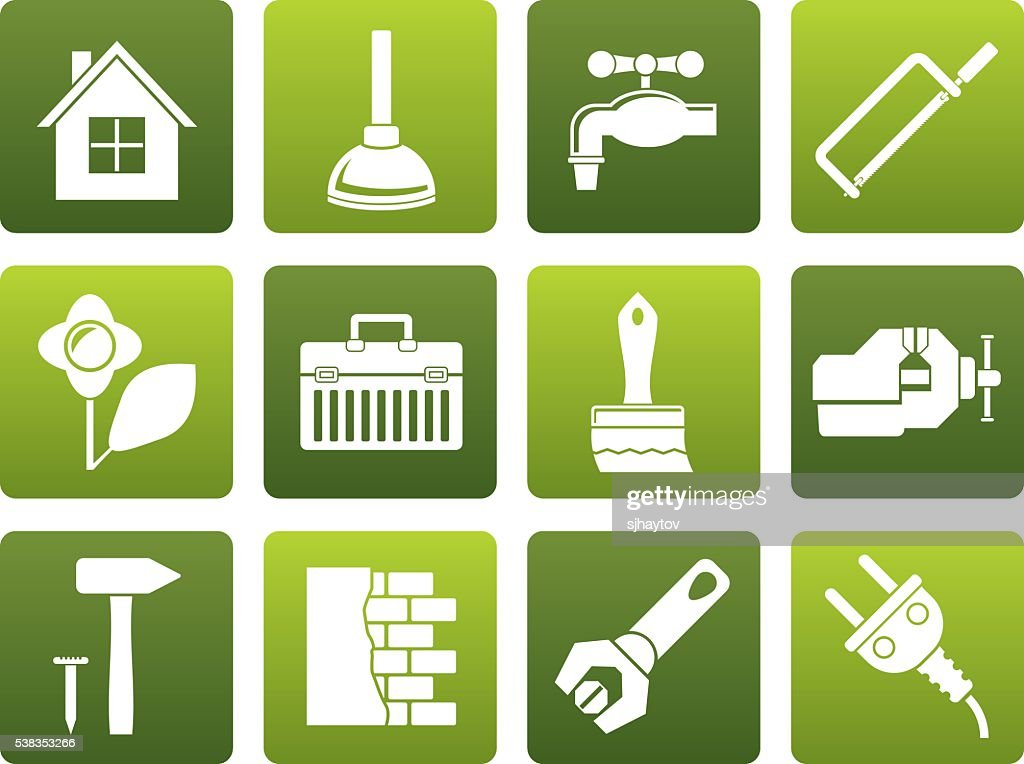 Flat construction and do it yourself icons vector art getty images flat construction and do it yourself icons vector art solutioingenieria Choice Image