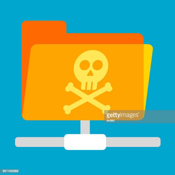 Flat Cyber attack with virus folder