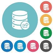 Flat Database export icons