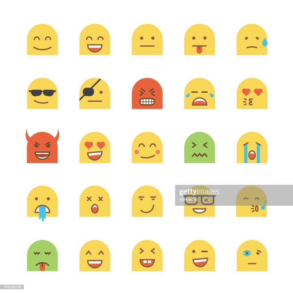 Flat Desig Emoji