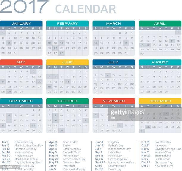 Calendário plana Design de 2017