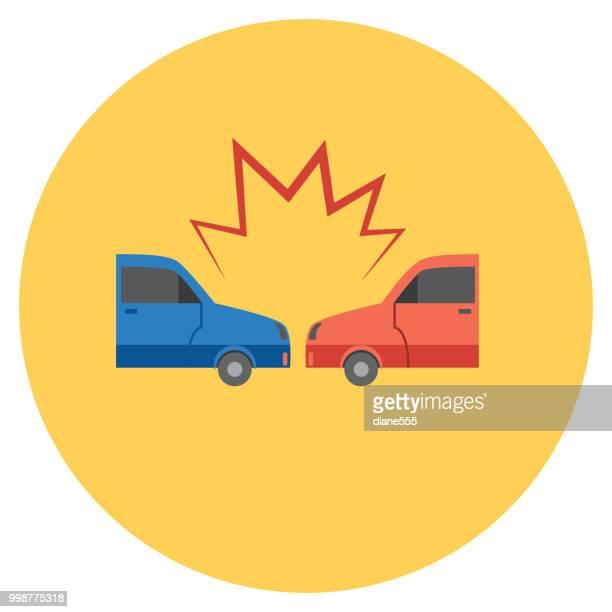 ilustrações de stock, clip art, desenhos animados e ícones de flat design auto insurance icons - acidente de carro