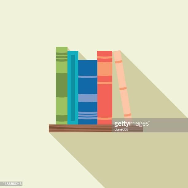 フラットデザインブックアイコン - 本棚点のイラスト素材/クリップアート素材/マンガ素材/アイコン素材