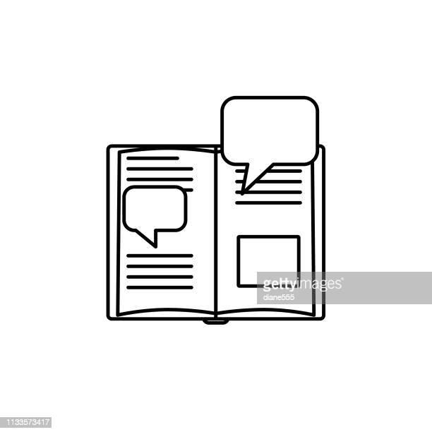 flat design book icon - literature stock illustrations
