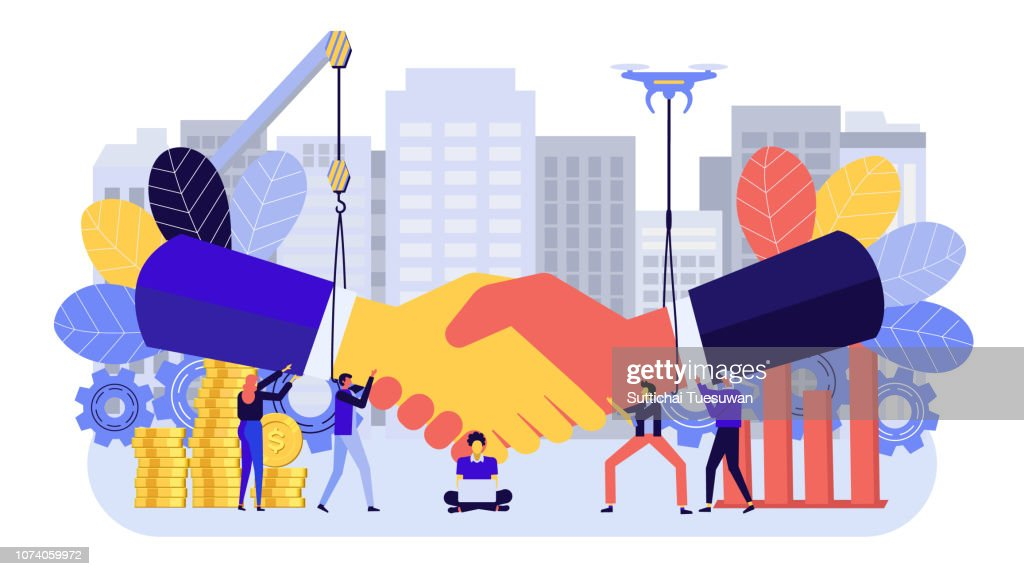 Flat design business concept : stock illustration