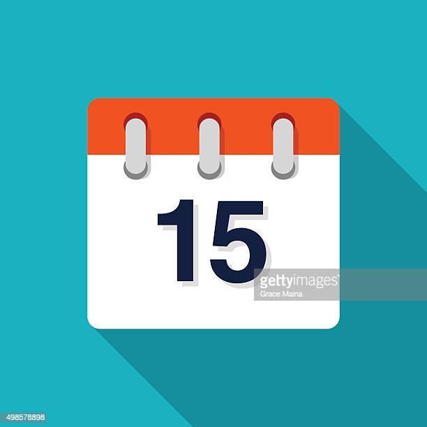 Flat Design Calendar Icon - VECTOR