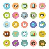 Flat design circle icon