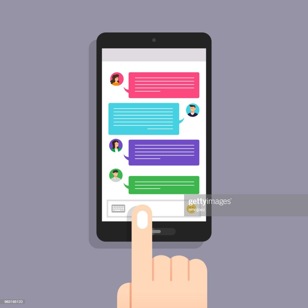 Flat design concept message and chat. Present by icon text message. Vector illustrate
