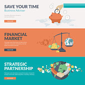 Flat design concepts for business and finance
