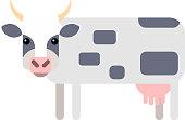 Flat design Cow Farm Animal Vector