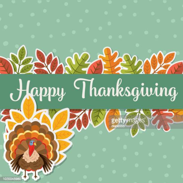 flat design cute autumn background - canadian thanksgiving stock illustrations