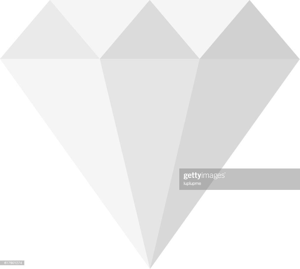 Flat design diamond illustration