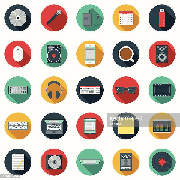 Un disc Jockey Design Elements Icon Set