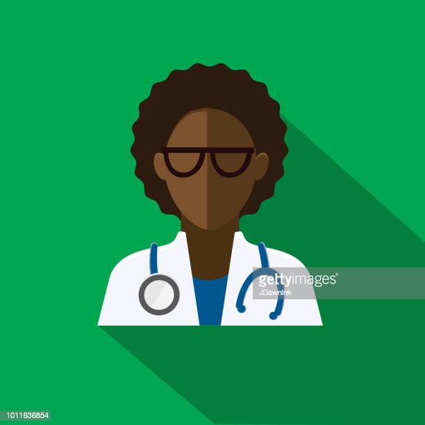 ilustraciones, imágenes clip art, dibujos animados e iconos de stock de plano diseño diversos profesionales médicos icono temático con sombra - trabajador sanitario