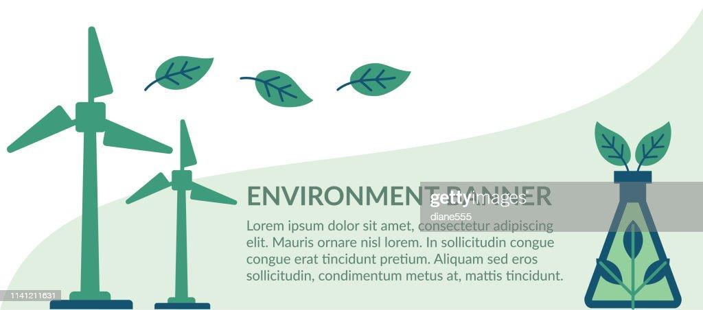 Flach-Design-Umwelt Icons : Stock-Illustration