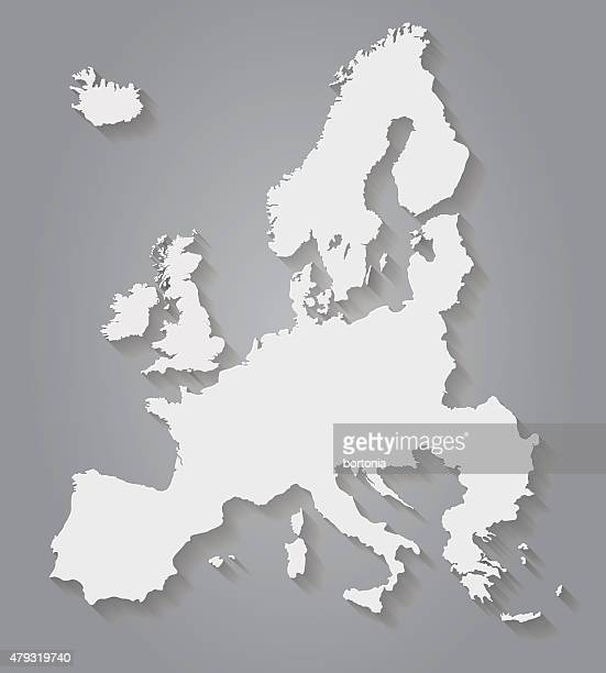 stockillustraties, clipart, cartoons en iconen met flat design europe paper map - europe