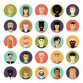 Flat Design Everyday People Avatar Vector Icon Set
