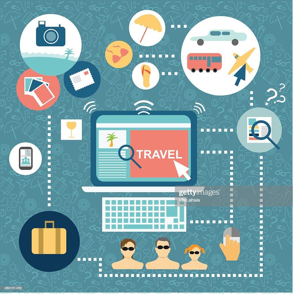 Flat design for traveling plan