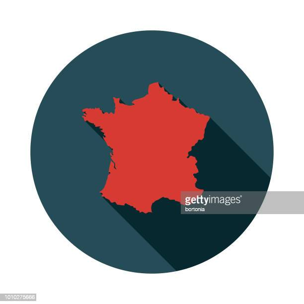 flat design france icon - france stock illustrations