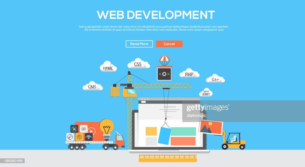 Flat  design graphic image concept