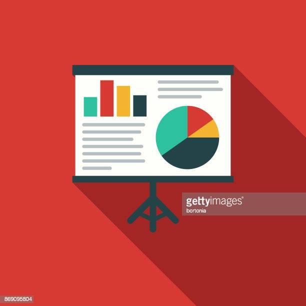 Flaches Design Gesundheitswesen medizinische Diagrammsymbol mit Seite Schatten