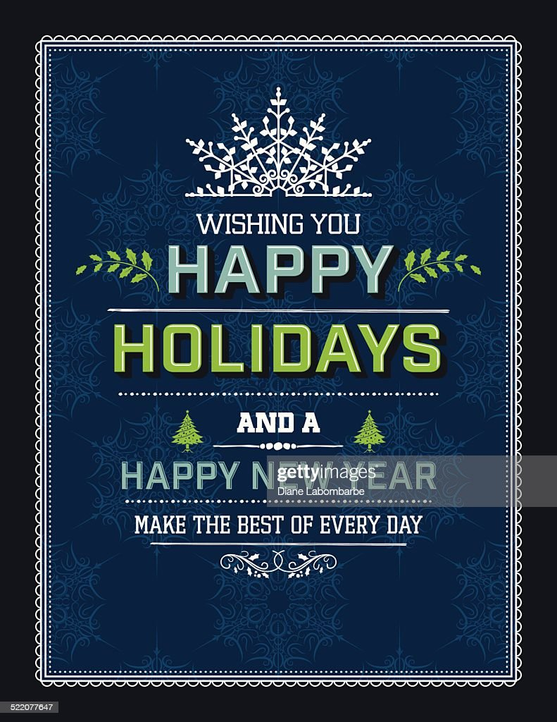Flat design holiday greeting card template blue green vector art flat design holiday greeting card template blue green vector art kristyandbryce Image collections