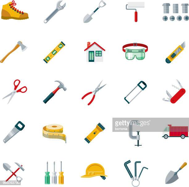 Flat Design Home Improvement Icon Set