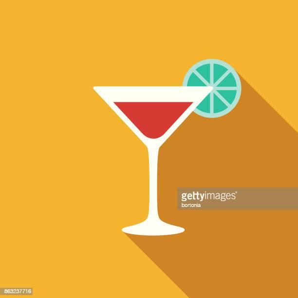 flat design hotel icon: bar - cocktail stock illustrations
