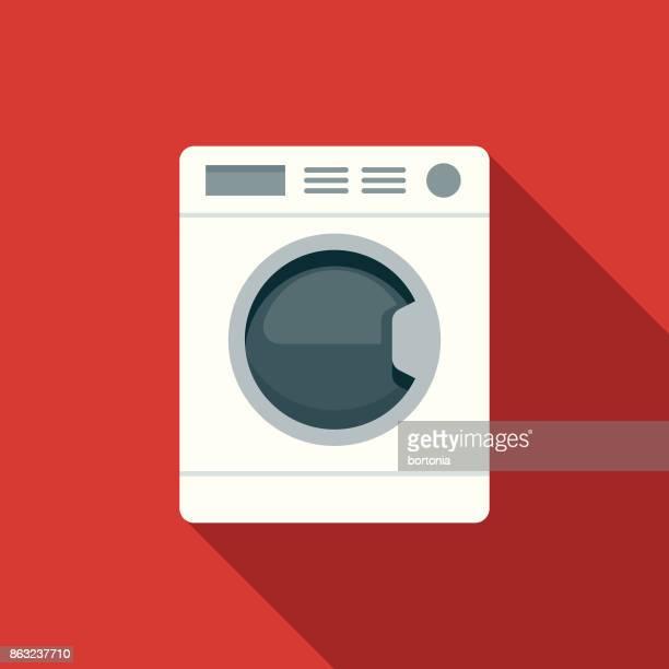 flache design hotel-ikone: wäscherei - wäsche stock-grafiken, -clipart, -cartoons und -symbole