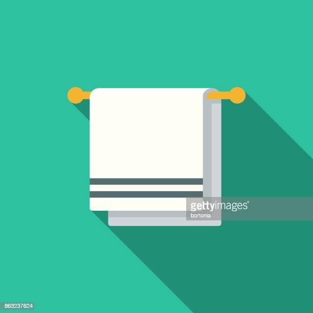 Flat Design Hotel Icon: Towel