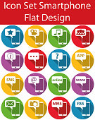 Flat Design Icon Set Smartphone I