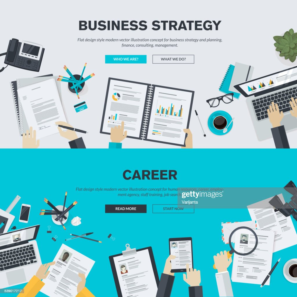 Flat design illustration concepts for business and career