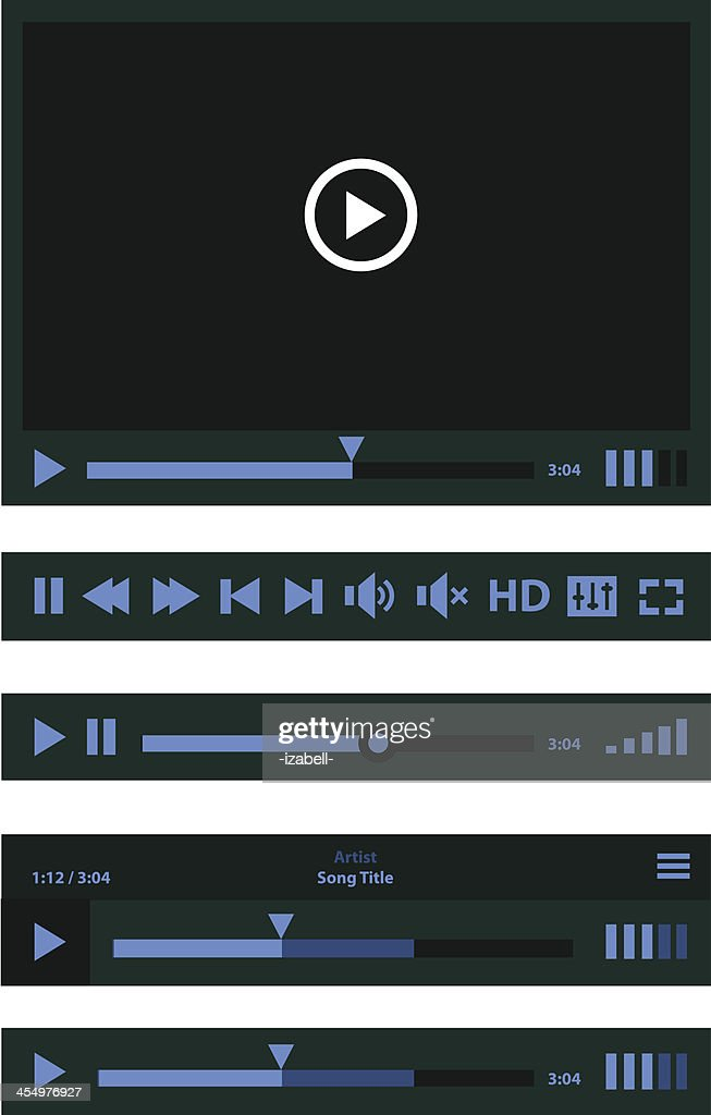Flat design Media Player