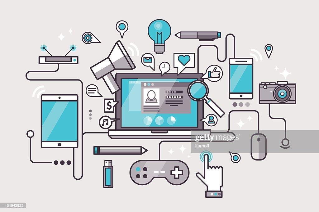 Flat design modern vector illustration concept
