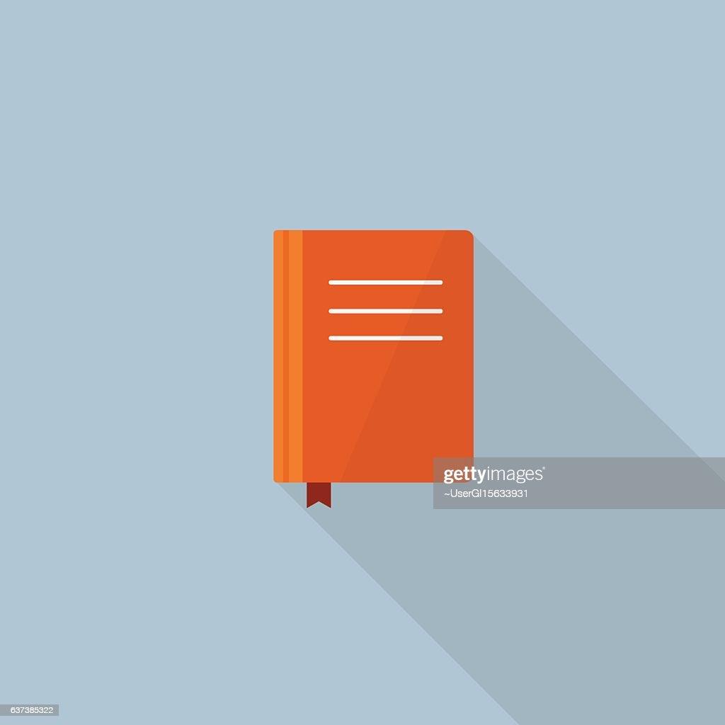 Flat Design Of Book Vector