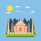 Flat design of Taj Mahal