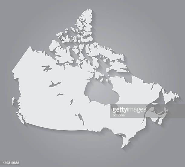 Flache Design-Papier-Canada Karte