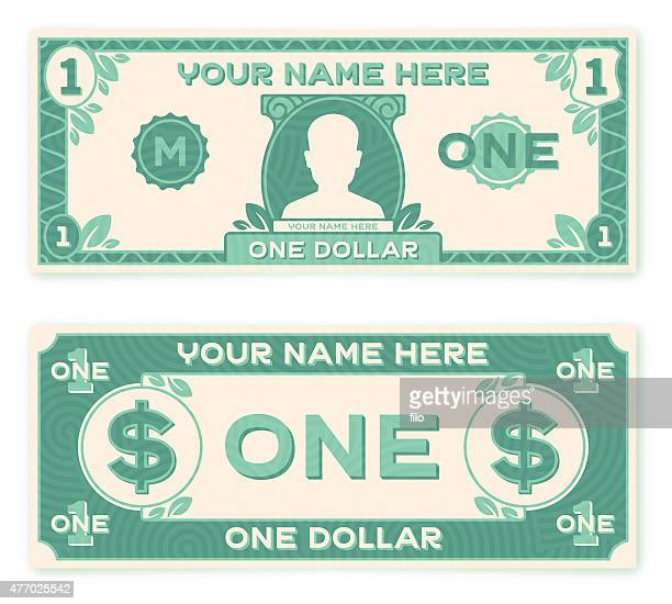 flat design paper money - us paper currency stock illustrations, clip art, cartoons, & icons